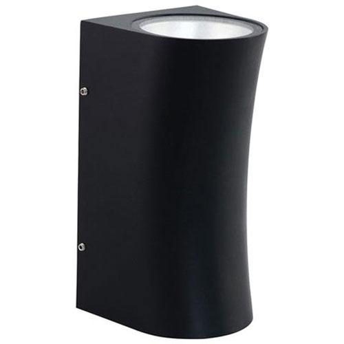 LED Tuinverlichting - Buitenlamp - Cupressus - Wand - Aluminium Mat Zwart - 12W Natuurlijk Wit 4200K