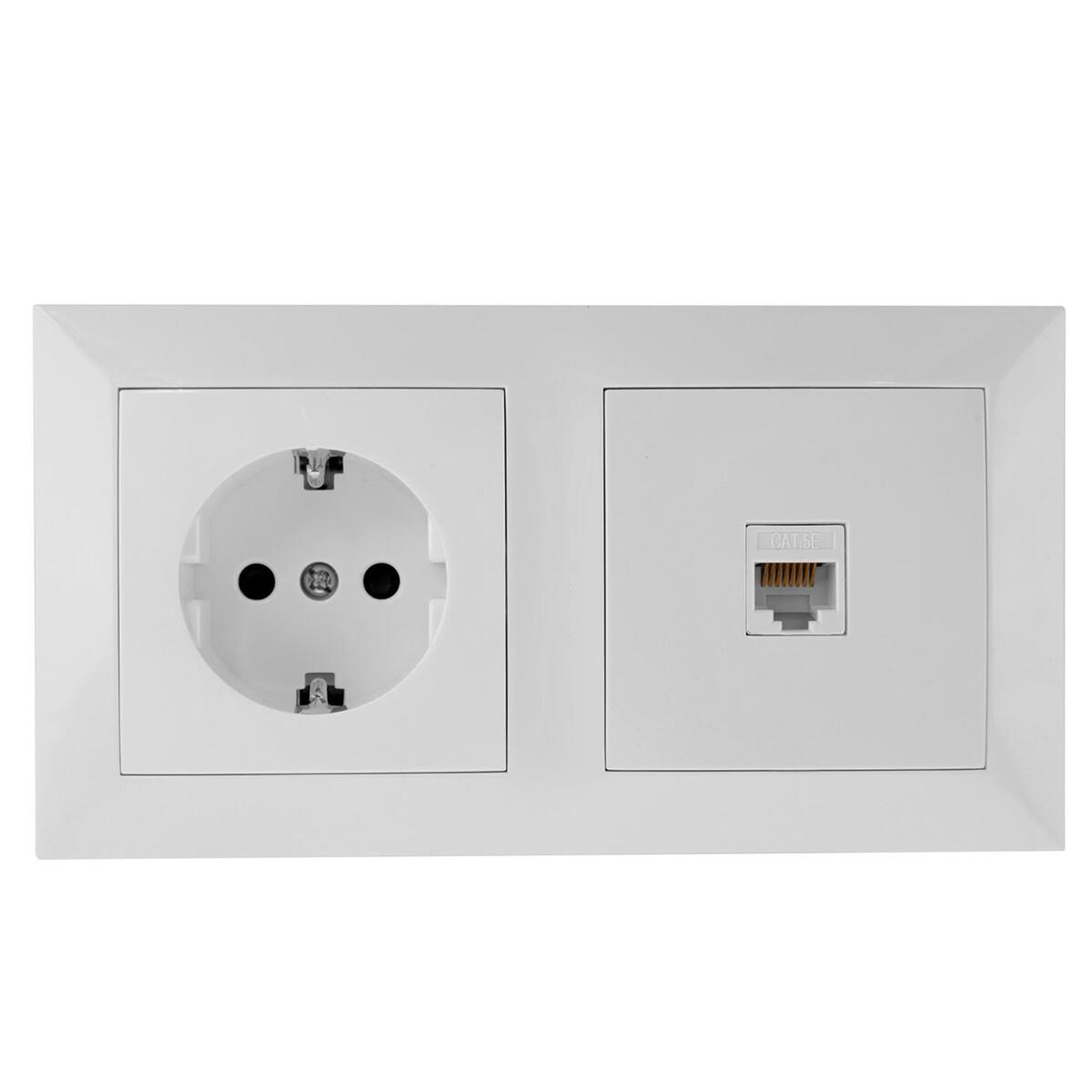 UTP RJ45 Stopcontact - Wandcontactdoos - Aigi Cika - Inbouw - 1-voudig Stopcontact - 1-voudig UTP CA