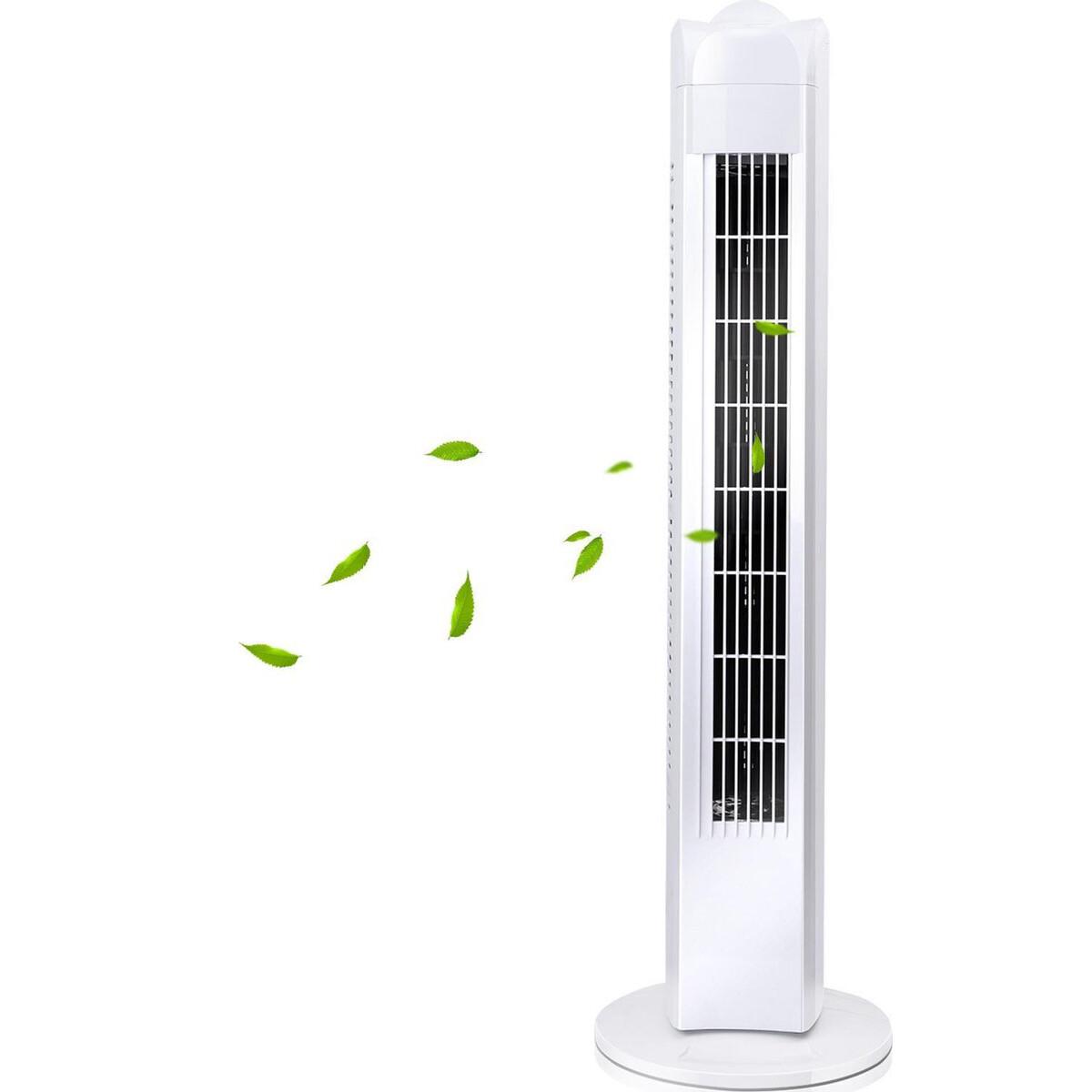 Ventilator - Aigi Bivon - Torenventilator - Staand - Rond - Mat Wit - Kunststof