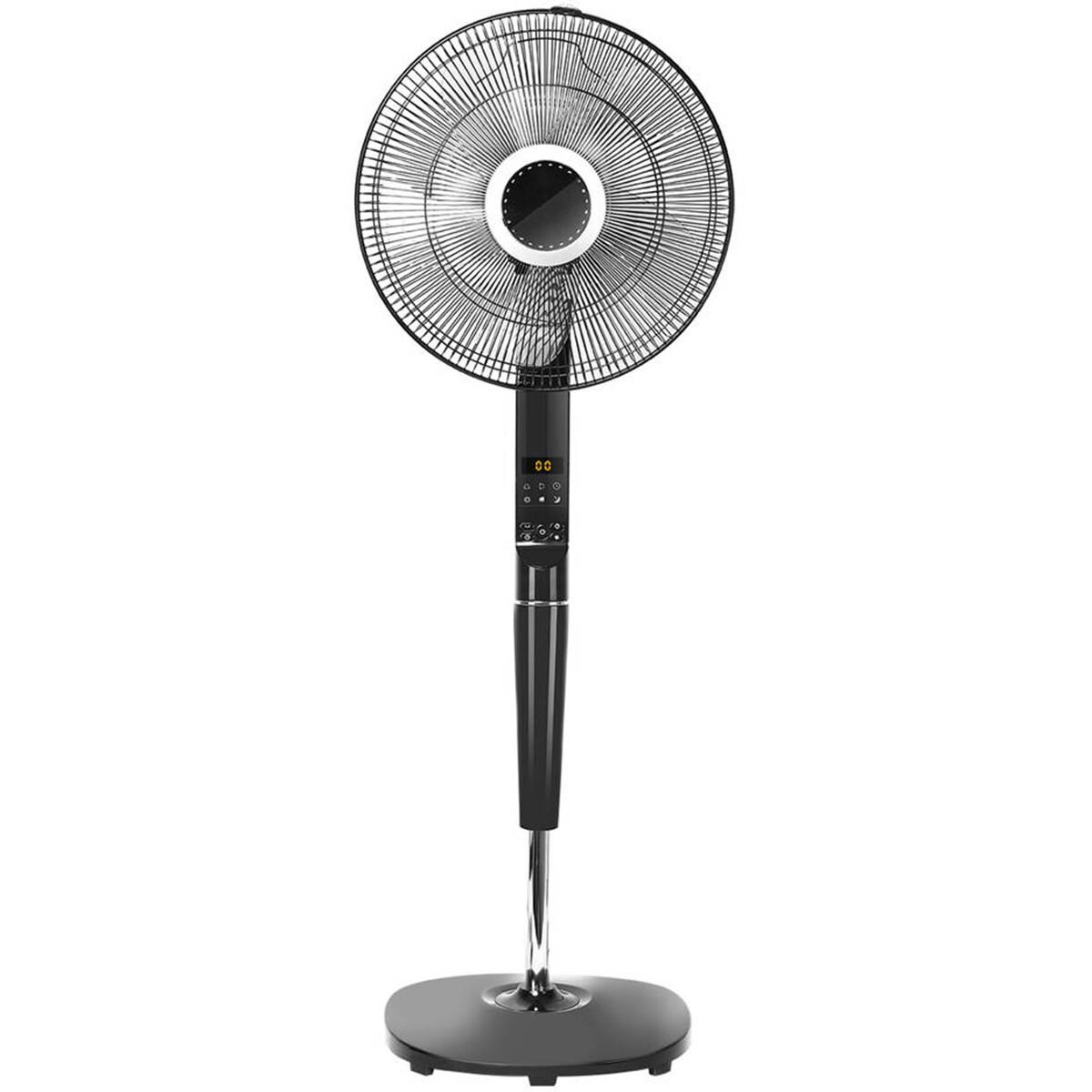 Ventilator - Aigi Lanim - Statiefventilator - Staand - Rond - Mat Zwart - Kunststof