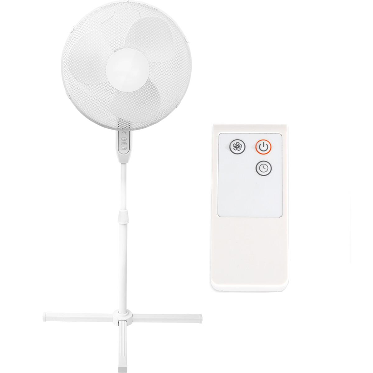 Ventilator - Aigi Lunom - Statiefventilator - Afstandsbediening - Staand - Rond - Mat Wit - Kunststo
