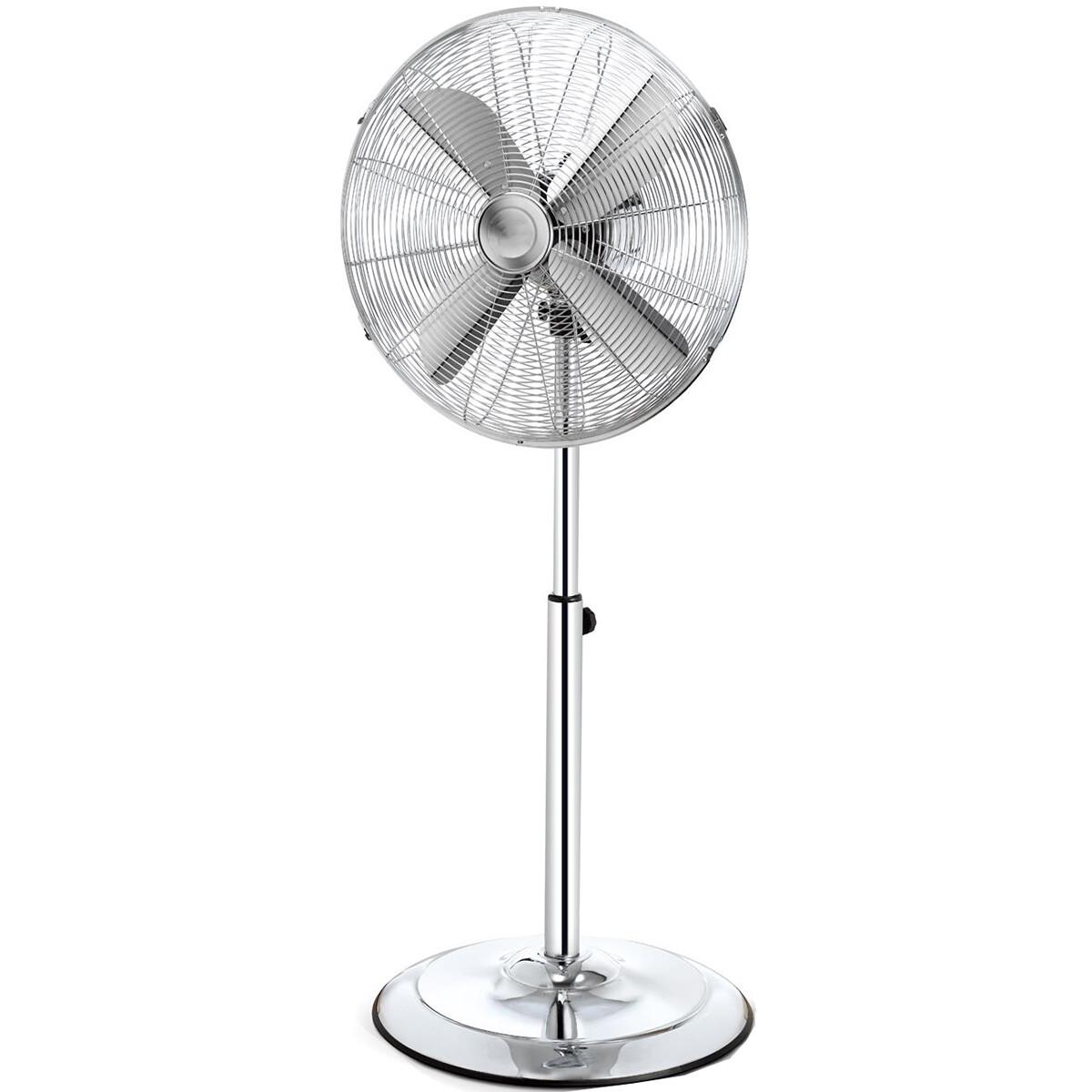Ventilator - Aigi Qino - Statiefventilator - Staand - Rond - Mat Zilver - Aluminium