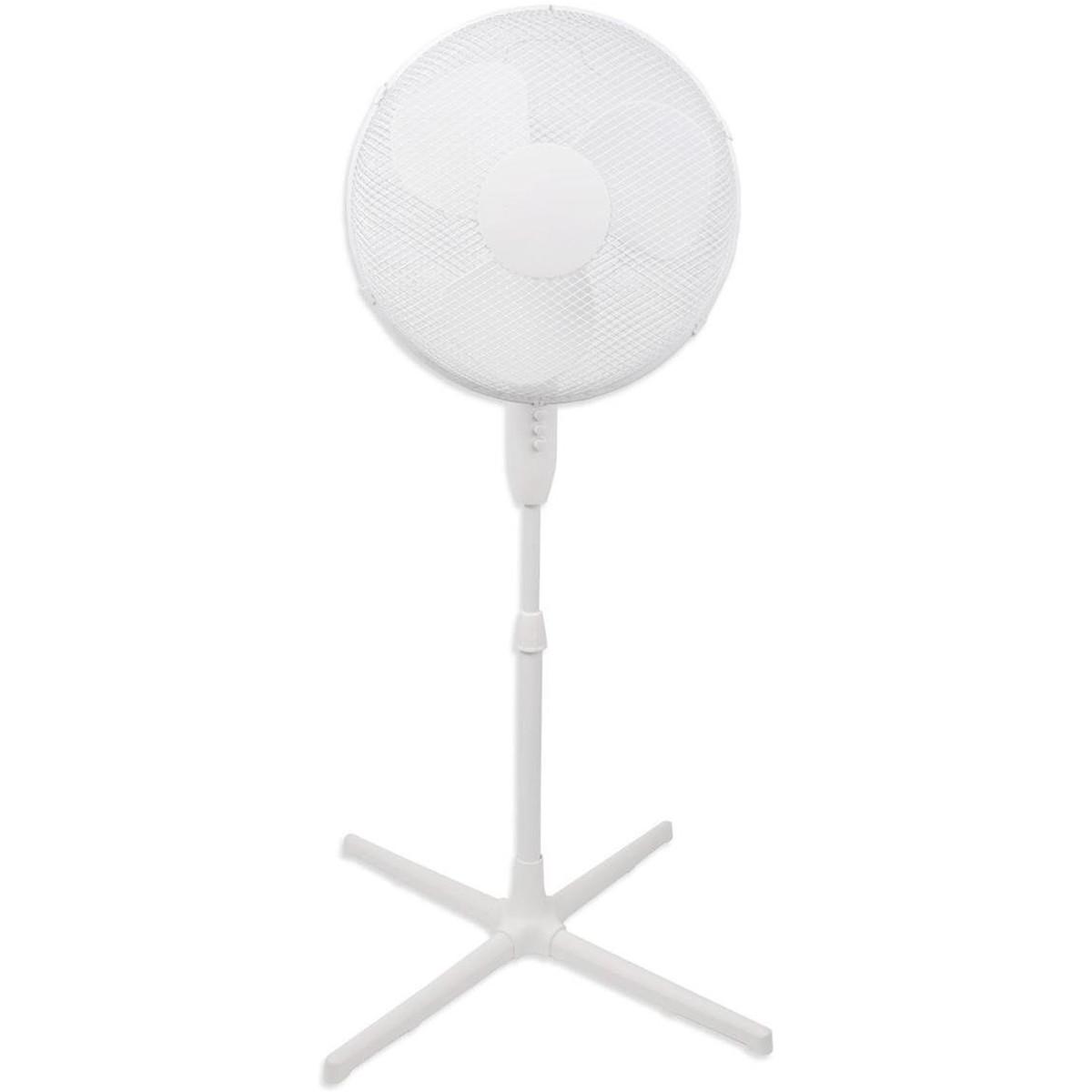 Ventilator - Aigi Siny - 40W - Statiefventilator - Staand - Rond - Wit - Aluminium