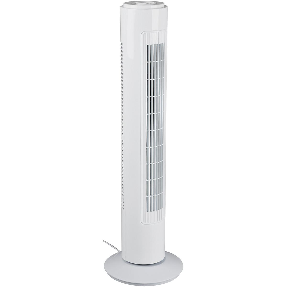 Ventilator - Trion Malon - Torenventilator - Staand - Rond - Mat Wit - Kunststof