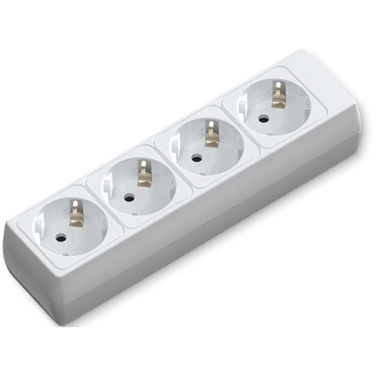 Verlengsnoer - Aigi Bovun - 3680W - 4 Stopcontacten - Wit - Zonder Snoer/Kabel | Nederland
