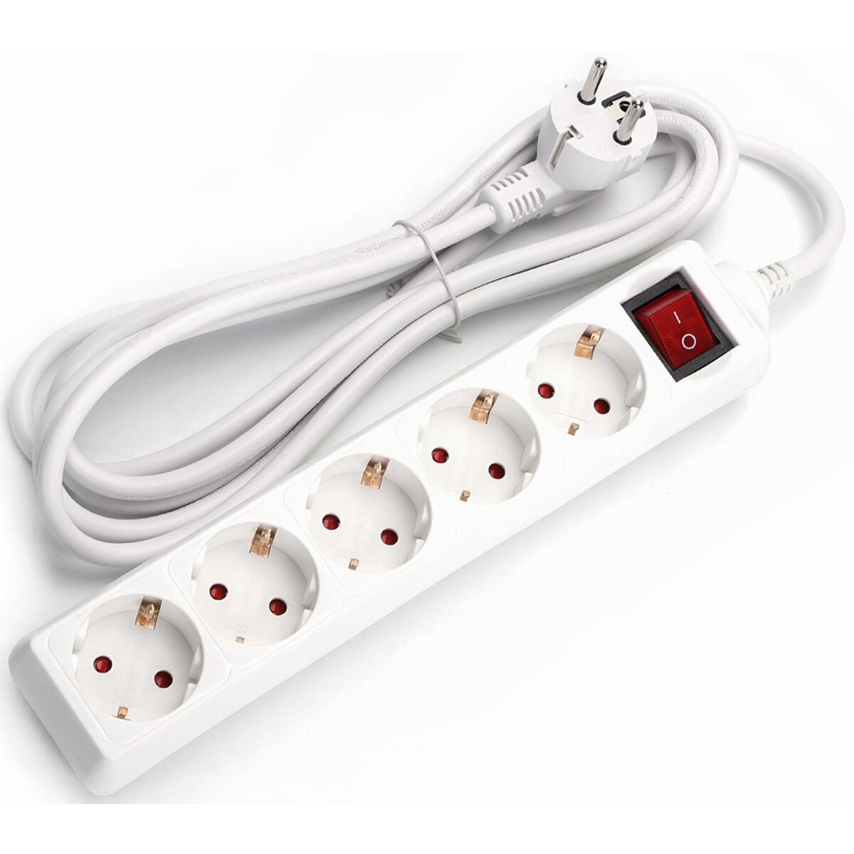 Verlengsnoer - Aigi Frutsi - 3680W - 5 Stopcontacten - 1.5 Meter - Wit | Nederland