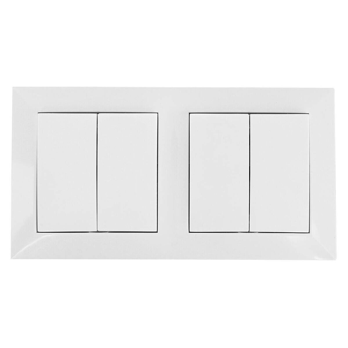 Wisselschakelaar Wissel/Wissel - Aigi Cika - Inbouw - 2-voudig Dubbel Schakelaar - Incl. Afdekraam -