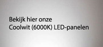 Cool Wit 6000K LED Panelen